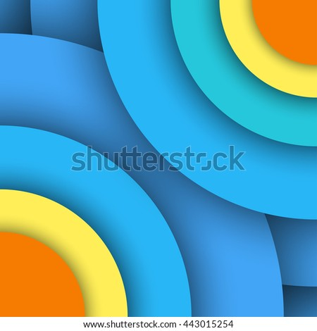 Material design background. Modern colorful abstract vector illustration, trendy geometrical template. Flyer, brochure, report cover. Blue Paper layers.