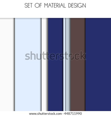 Material Design for web or app UI. The geometric pattern. Isometric, flat design. Realistic shadows. - stock vector