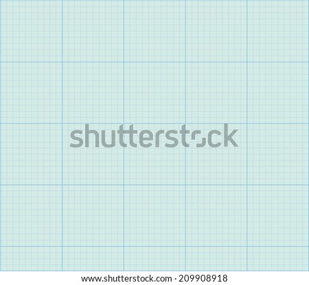 Math concept with sheet of blue graph paper background - stock vector