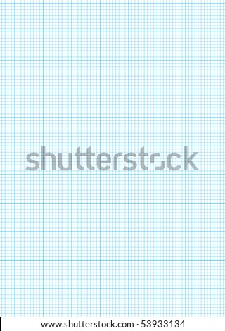 Math Concept Sheet Blue Graph Paper Stock Vector   Shutterstock