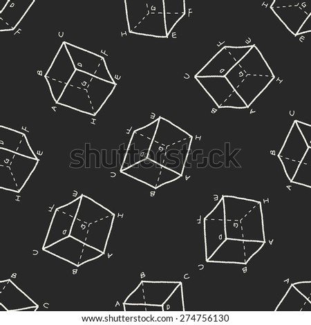 math doodle seamless pattern background - stock vector