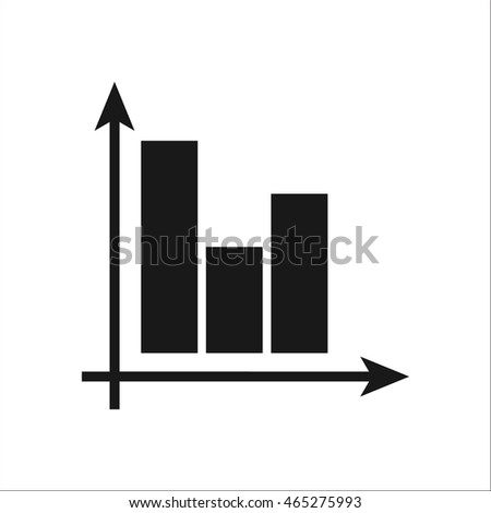 Math graphic with coordinates symbol sign simple icon on background