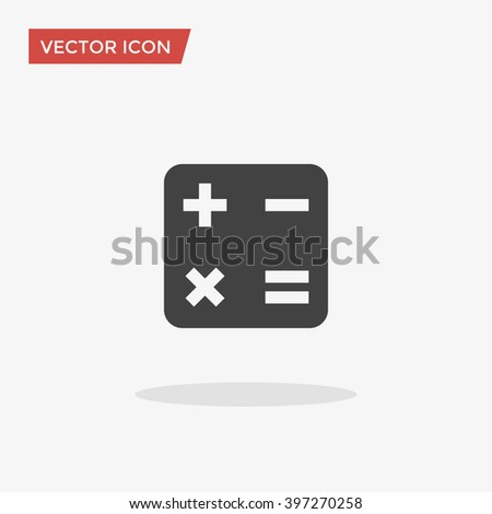 Math Icon in trendy flat style isolated on grey background. Vector illustration, EPS10. - stock vector