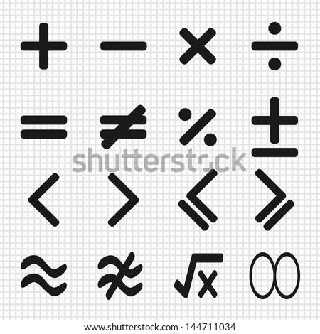 math icons design set - stock vector