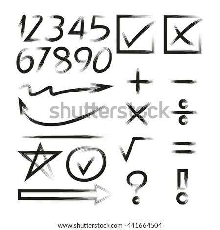 math icons, number, arrows