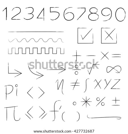 math sign, number, check list
