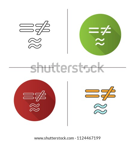 Math Symbols Icon Equals Not Approximately Stock Vector 1124467199