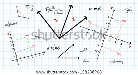 Mathematical Geometry Background - stock vector