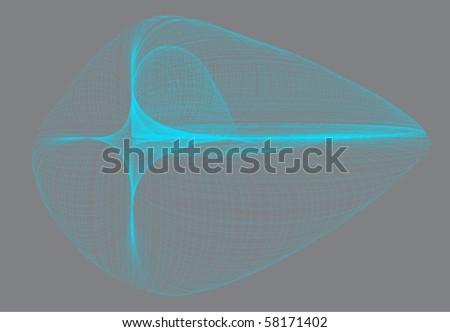 mathematical line art - stock vector
