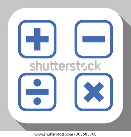 mathematical signs icon