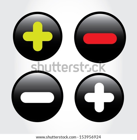 mathematical signs over gray background vector illustration