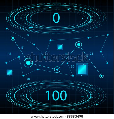 Mathematical Technology Background. Jpeg Version Also Available In Gallery. - stock vector