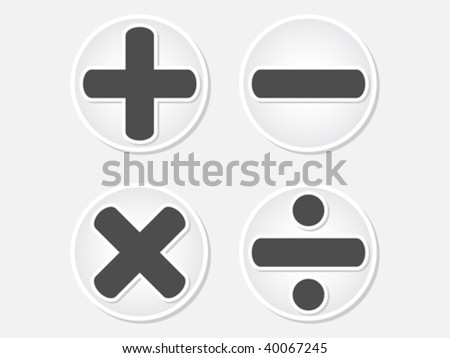 mathematics button vector illustration