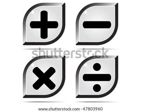 mathematics buttons