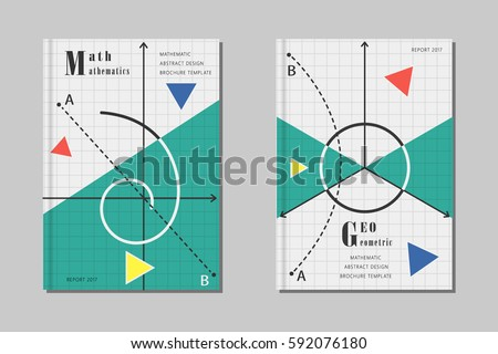 Mathematics design abstract geometric shapes signs stock for Math brochure template