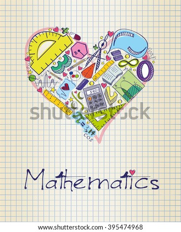 mathematics in shape of heart