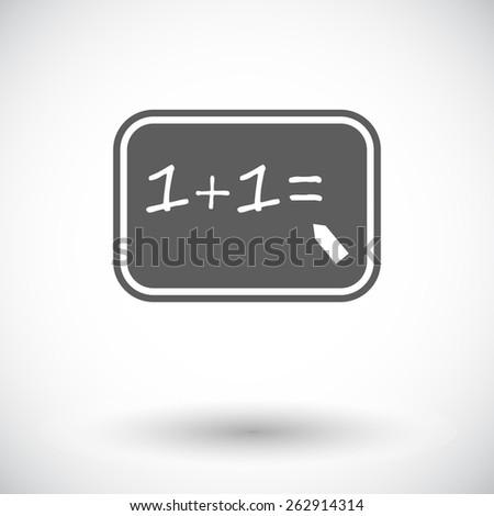 Mathematics. Single flat icon on white background. Vector illustration. - stock vector