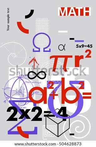 mathematics vector cover background scientific formulas