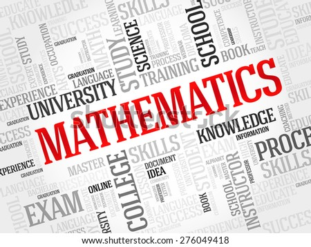 Mathematics word cloud, education concept - stock vector