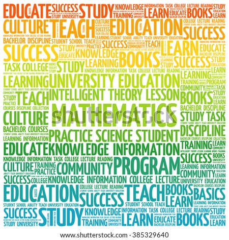 Mathematics word cloud, education concept background