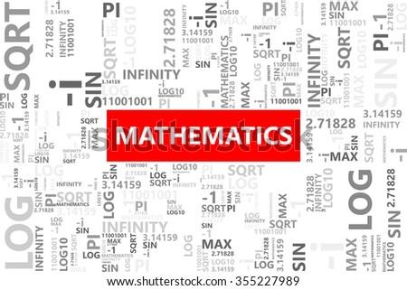 Mathematics Word Tag Cloud Math Symbols Stock Vector 355227989