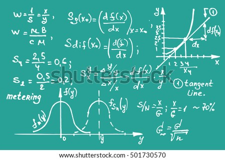 Maths Equations On School Board Vector Stock Vector 501730570 ...