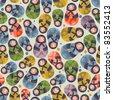 Matreshka toy seamless pattern. Vector doodle illustration. - stock vector