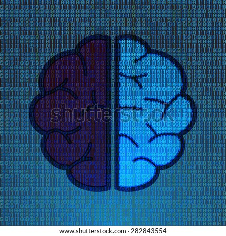 matrix brain - stock vector