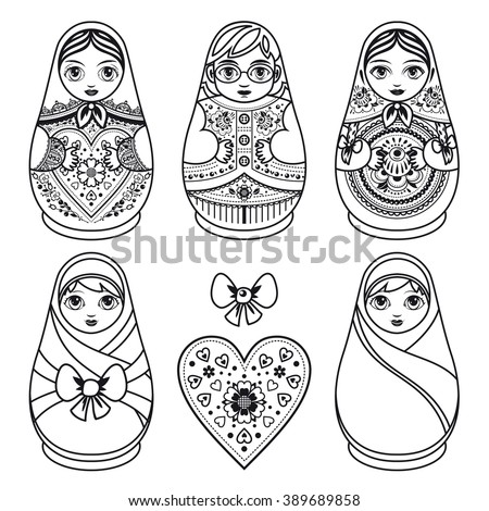 babushka coloring pages - photo#15