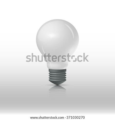 Matt lightbulb on a white background, vector illustration - stock vector