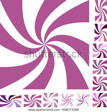Mauve and white vector spiral design background set. Different color, gradient, screen, paper size versions. - stock vector