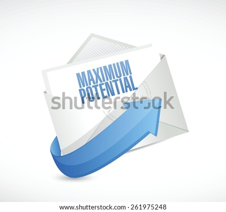 maximum potential mail sign concept illustration design over white