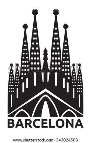 May 15, 2014: A vector illustration of La Sagrada Familia, the cathedral designed by Antoni Gaudi in Barcelona, Spain.