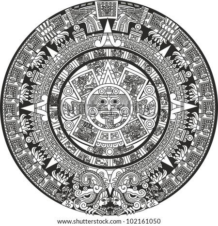 Mayan Calendar Stock Vector 102161050 Shutterstock