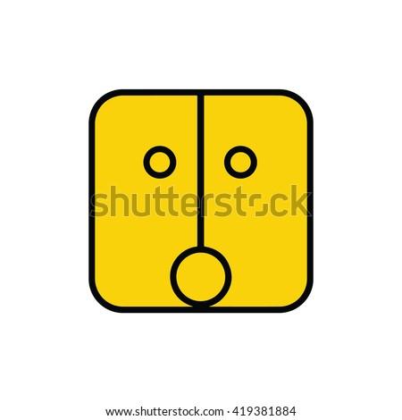 Mayan calendar symbol. Solar seal icon. Solar kin vector illustration. Dreamspell Mayan calendar. Yellow Resonant Sun - stock vector