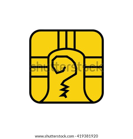 Mayan calendar symbol. Solar seal icon. Solar kin vector illustration. Dreamspell Mayan calendar. Yellow Electric Warrior - stock vector