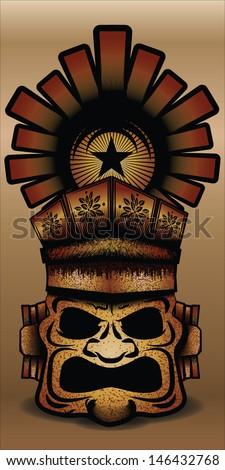 Mayan Mask - stock vector