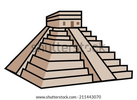 Mayan Pyramid - stock vector