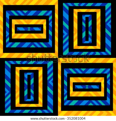 Maze. Abstract geometric seamless pattern. - stock vector