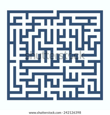maze game illustration isolated on white background - stock vector