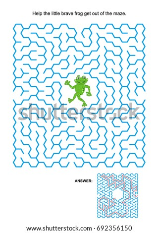 Maze Game Activity Page Help Little Stock Vector (2018) 692356150 ...