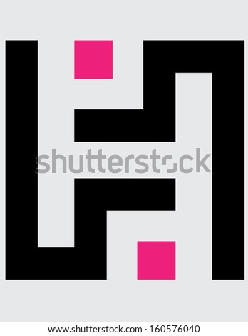 maze isolated illustration - stock vector