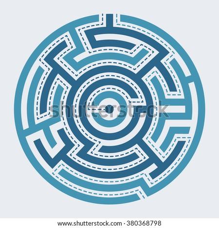 Maze labirinth circle vector illustration - stock vector