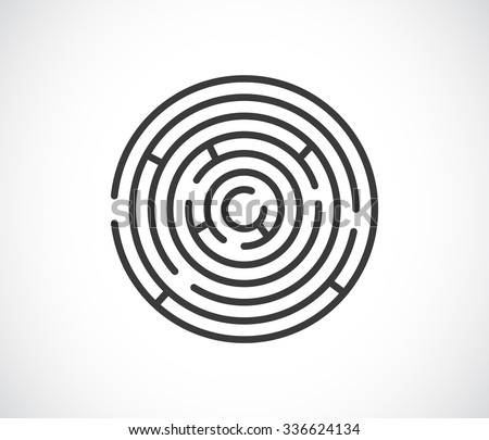 maze labyrinth abstract icon - logo - stock vector