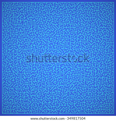 Maze. Labyrinth with Entry and Exit. Find the Way Out Concept. Transportation. Logistics Abstract Background Concept. Business Path Concept. Vector Illustration. - stock vector