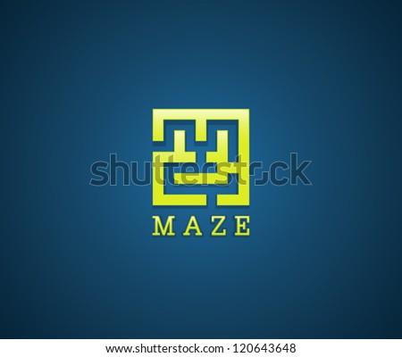 Maze symbol - stock vector