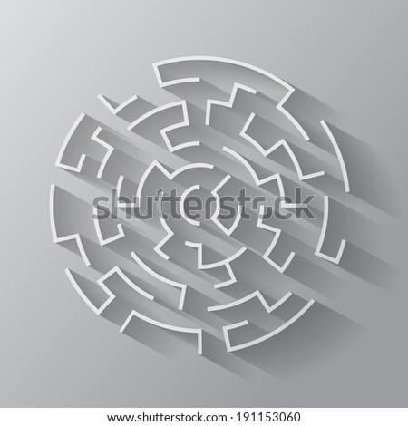 Maze. Vector format - stock vector