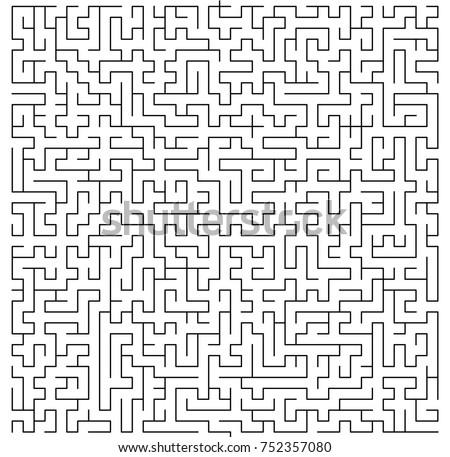 Maze Vector Illustration Isolated Over White Stock Photo (Photo ...