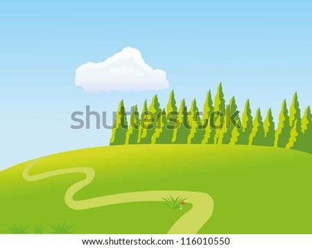 Meadow - stock vector