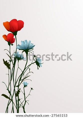 meadow flowers - stock vector